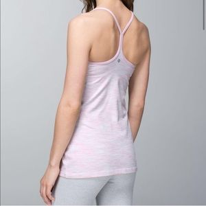 Lululemon Pink-Blue Heathered Tank Top 2